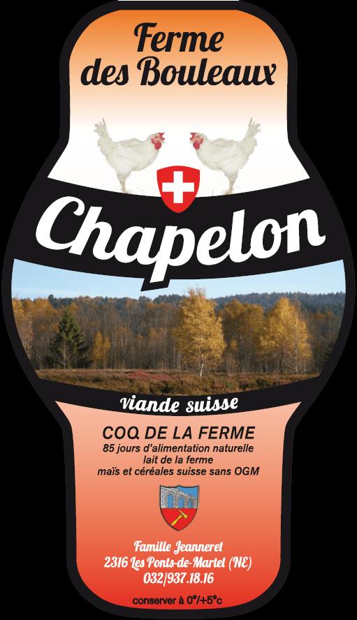 Étiquette Chapelon